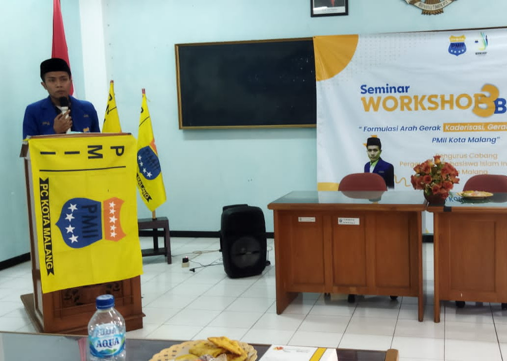 Ketua Umum PC PMII Kota Malang Muhammad Sai Yusuf